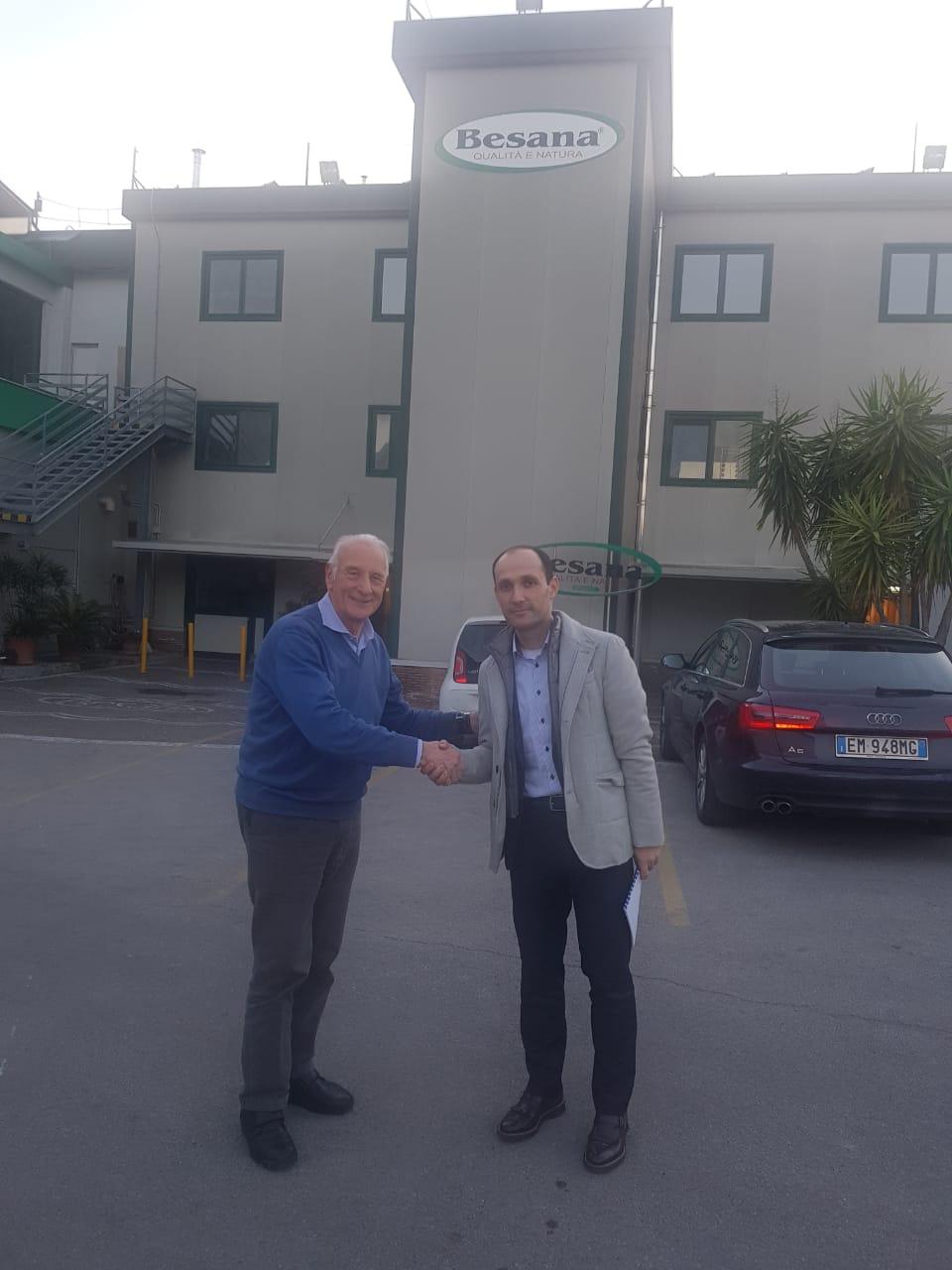Pino Calcagni (left) and Levan Davitashvili